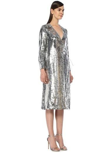 Ganni Elbise Gümüş